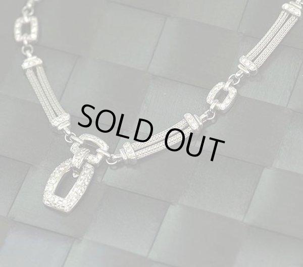 画像1: プラチナ850×ダイアモンド1.3ct【送料無料】プラチナ線を編んで組み上げた、ダイアとプラチナのゴージャスなネックレス (1)